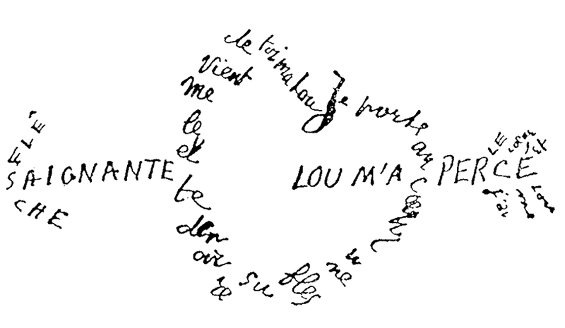 litterature-calligramme-amour