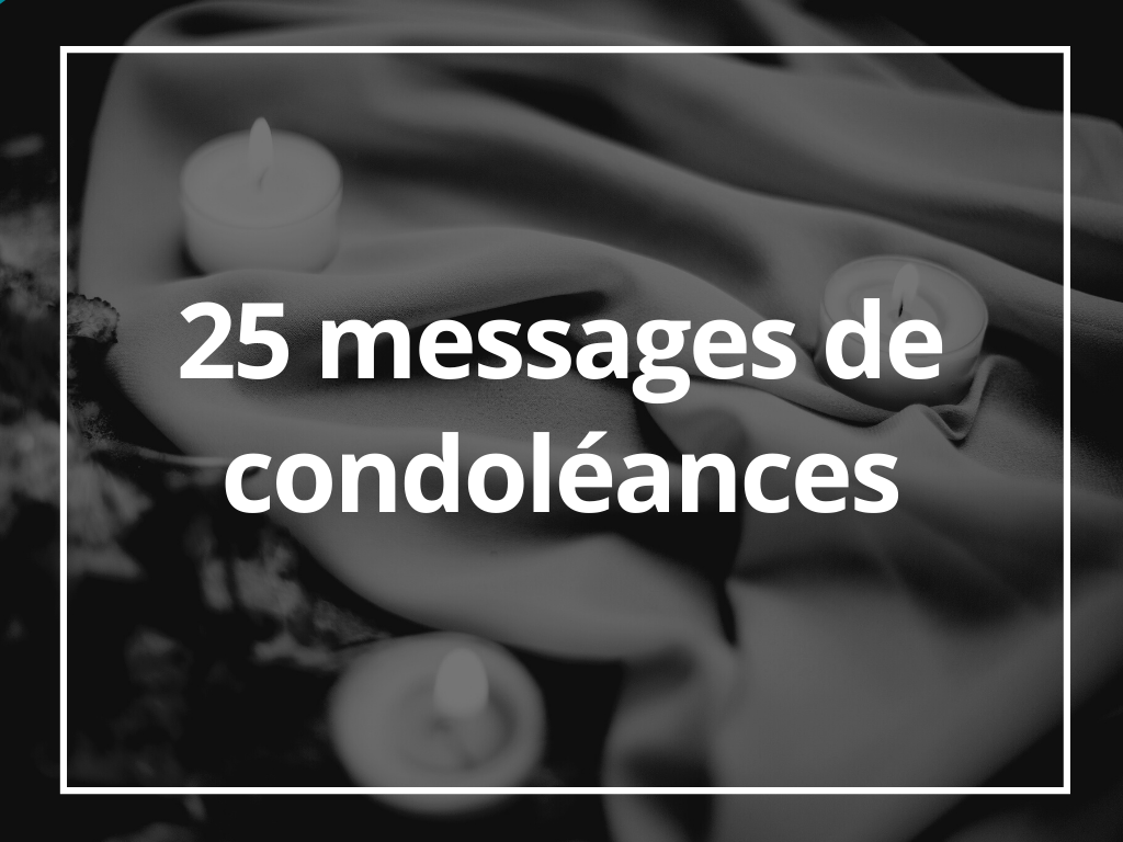 message condoléances