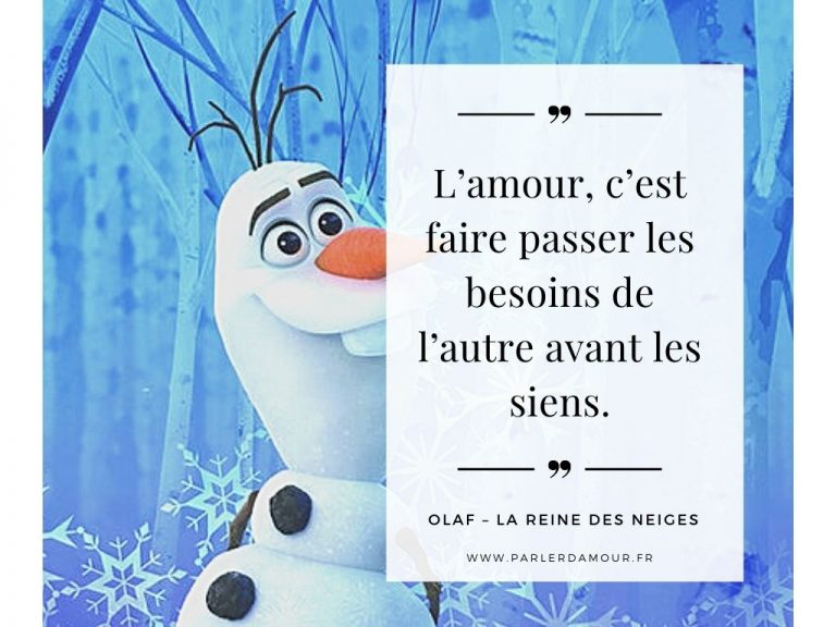 citations d'amour dans les Disney